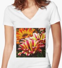 Gazania Fitted V-Neck T-Shirt