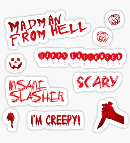 Halloween Sticker Pack 2 Glossy Sticker