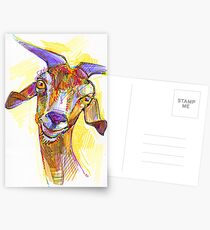 Goat drawing - 2011 Postcards