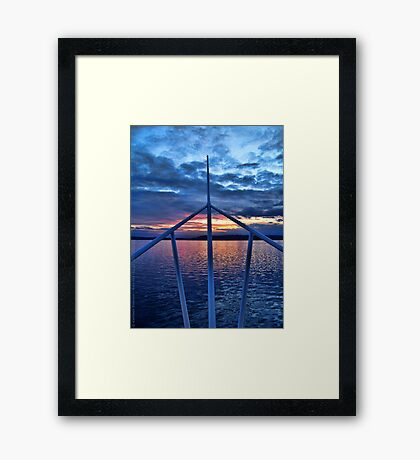 Sunset from the Ferry Framed Print