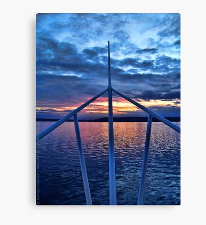 Sunset from the Ferry Canvas Print