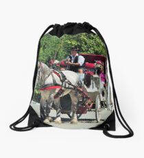 Horse and Buggy - Central Park Drawstring Bag