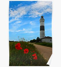 lighthouse of kampen Poster