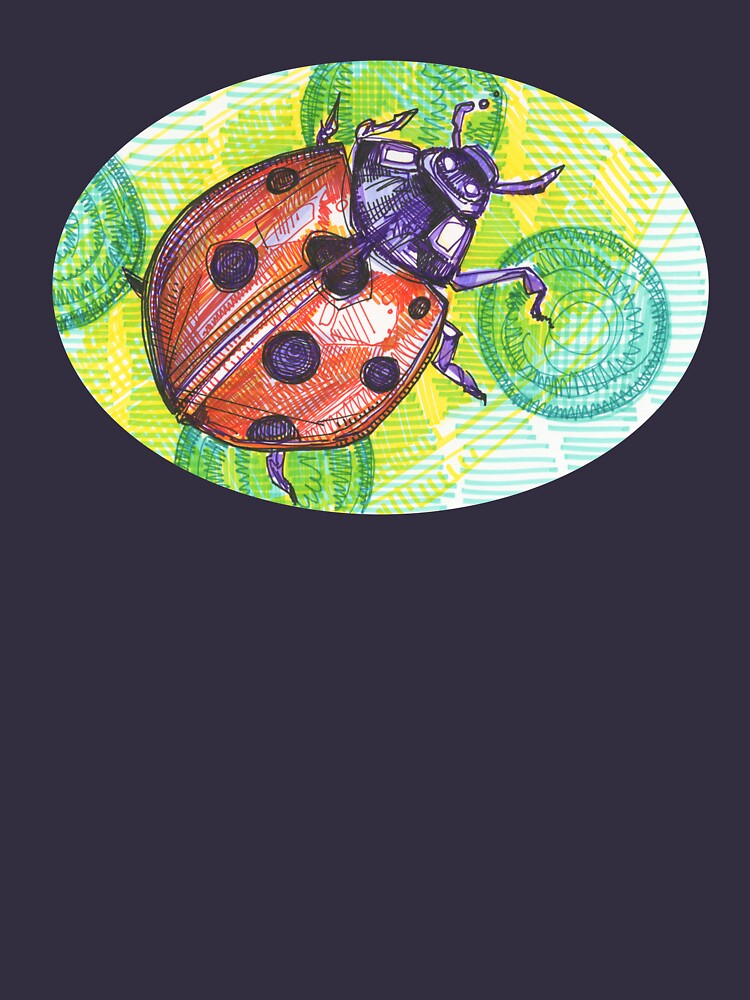 Ladybug drawing - 2015 by gwennpaints