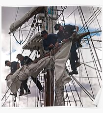 Foresail replacement - Lady Nelson Poster
