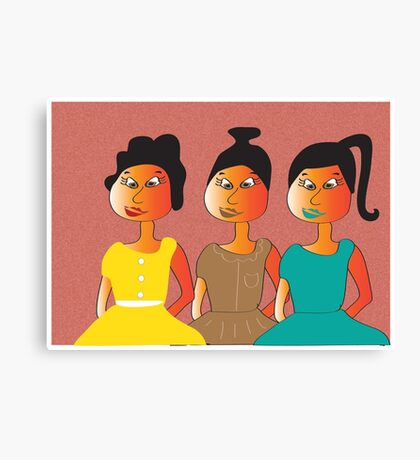 We three...... Canvas Print