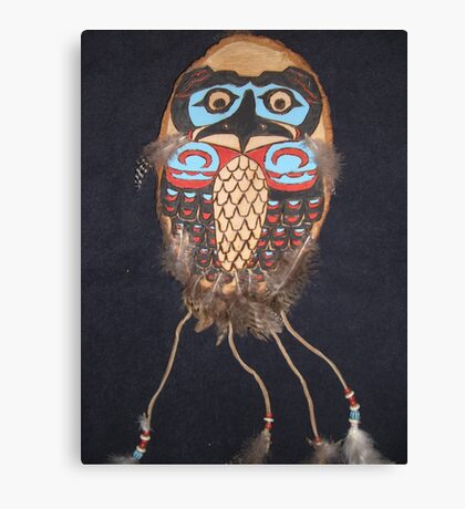 Northwest Native Influence of owl Canvas Print
