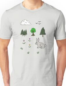 Nature Diorama Stickers  T-Shirt