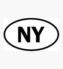 New York - NY - oval sticker and more Photographic Print