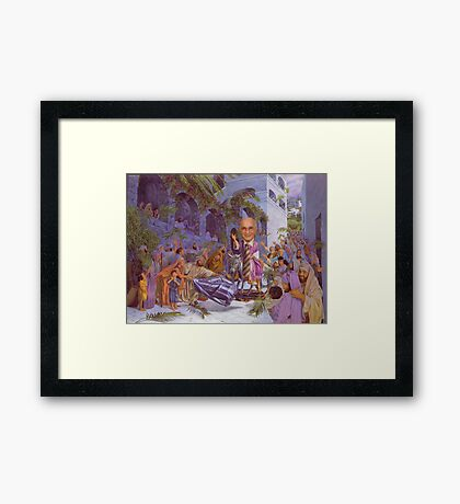 M Blackwell - At last! The Accountant's here! Framed Print