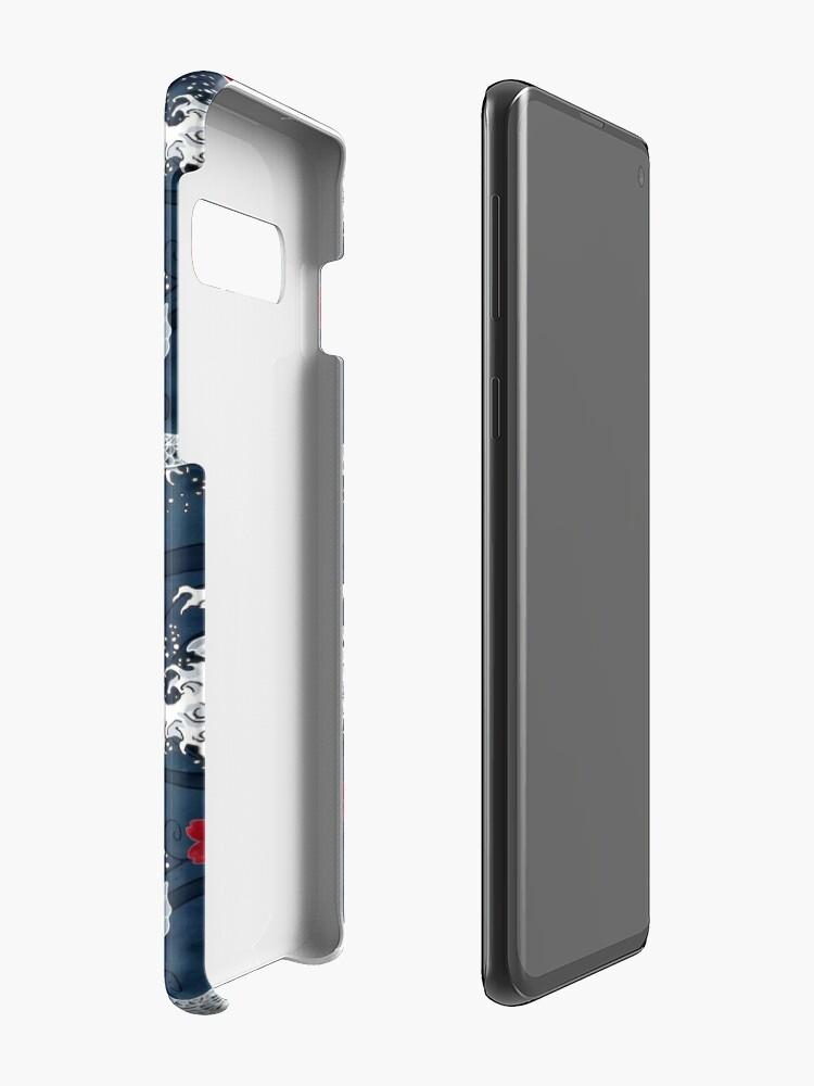Alternate view of Koi sakura blossom in blue Case & Skin for Samsung Galaxy