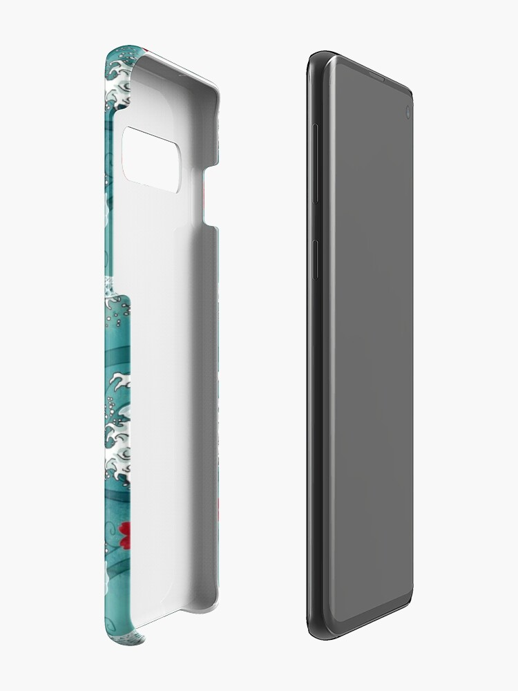 Alternate view of Koi sakura blossom in turquoise Case & Skin for Samsung Galaxy