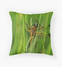 Four-spotted Chaser Throw Pillow