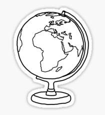 Simple Globe Graphic Sticker