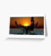 Just another sundawn. Greeting Card