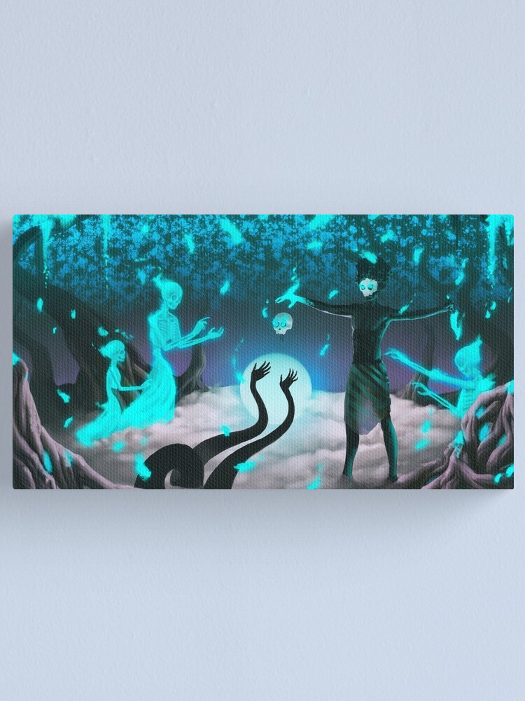 Alternate view of Midnight Offering | Digital Illustration Canvas Print