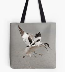 Dancing Avocets Tote Bag