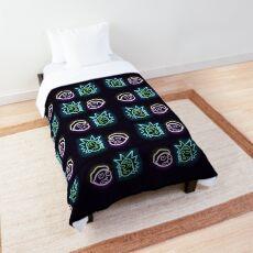 Neon rick and morty  Comforter