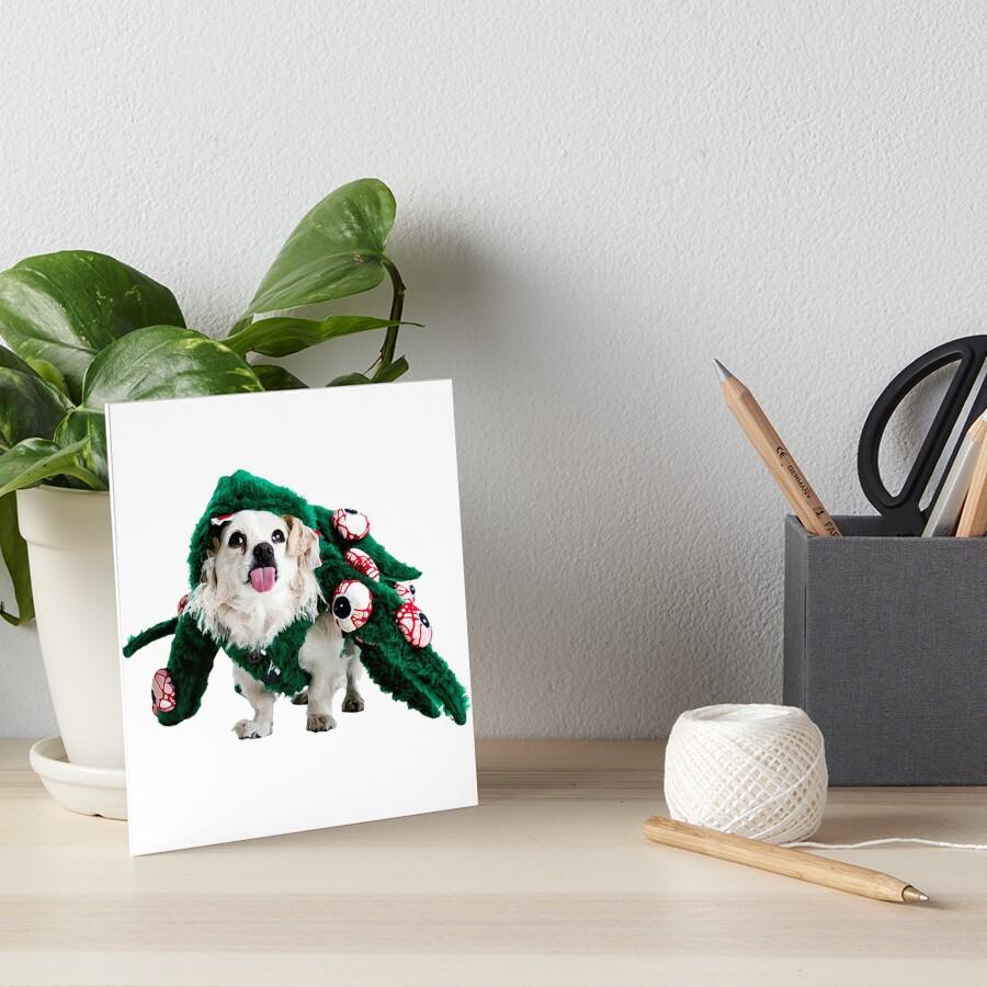 """Happy Halloween - Hund """"Dio"""" im Halloween-Kostüm - Glaube und Wahrheit Galeriedruck"""