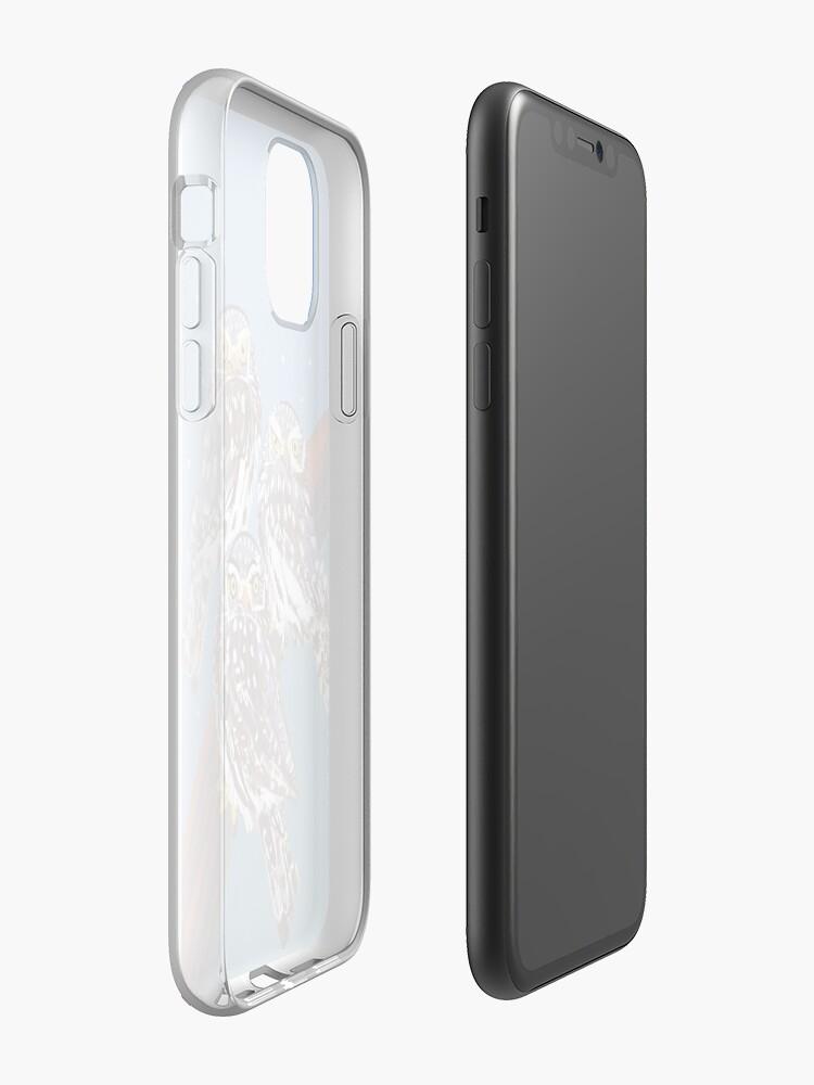 Vista alternativa de Funda y vinilo para iPhone Northern Pygmy owl