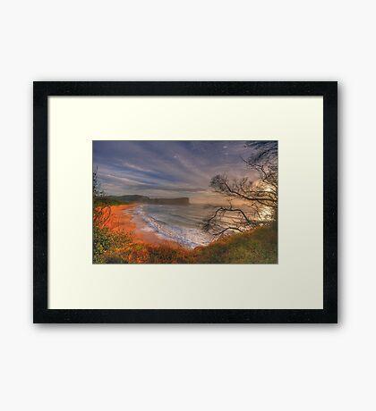 One Fine Day (Landscape) - Avalon Beach, Sydney Australia -The HDR Experience Framed Print