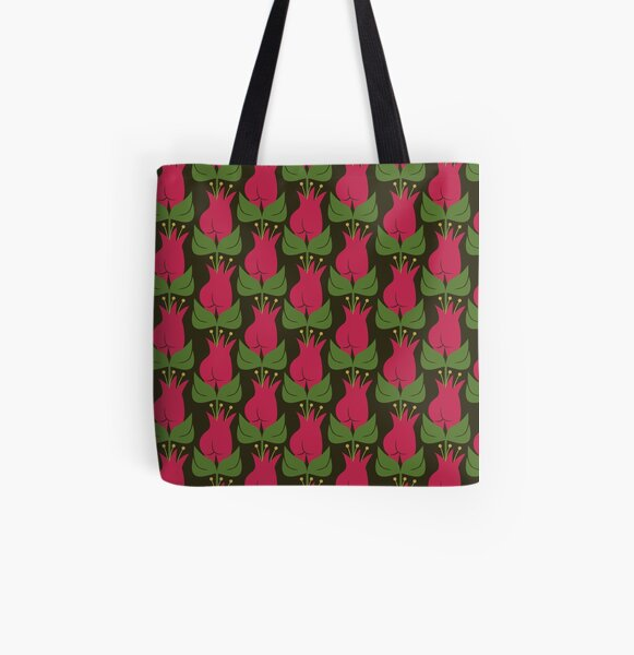 Tulip pattern All Over Print Tote Bag