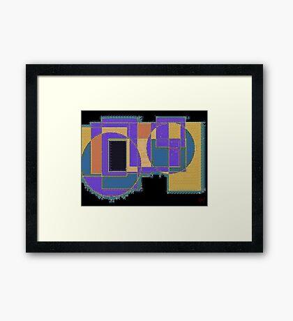 Geometric Tapestry Framed Print