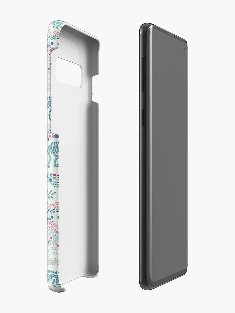Alternate view of Dinosaur Fossils - aqua on white - Fun graphic pattern by Cecca Designs Case & Skin for Samsung Galaxy