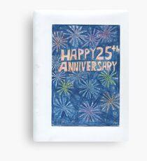 25th Anniversary Canvas Print