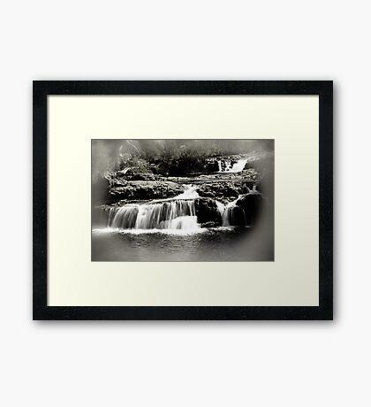 Cradle Mountain Falls Framed Art Print