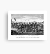The Generals Of The Confederate Army Canvas Print