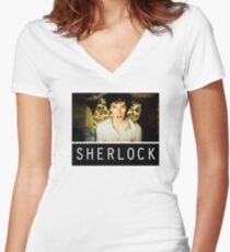 SHERLOCK T-SHIRT Women's Fitted V-Neck T-Shirt