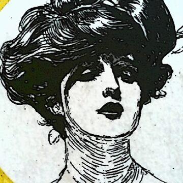 Matchbox Label - Lady by MrMinty