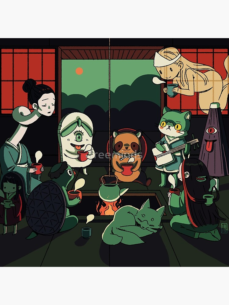 Yokai Tea Party by freeminds