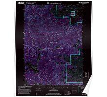 USGS Topo Map Oregon Rail Creek Butte 281217 1998 24000 Inverted Poster