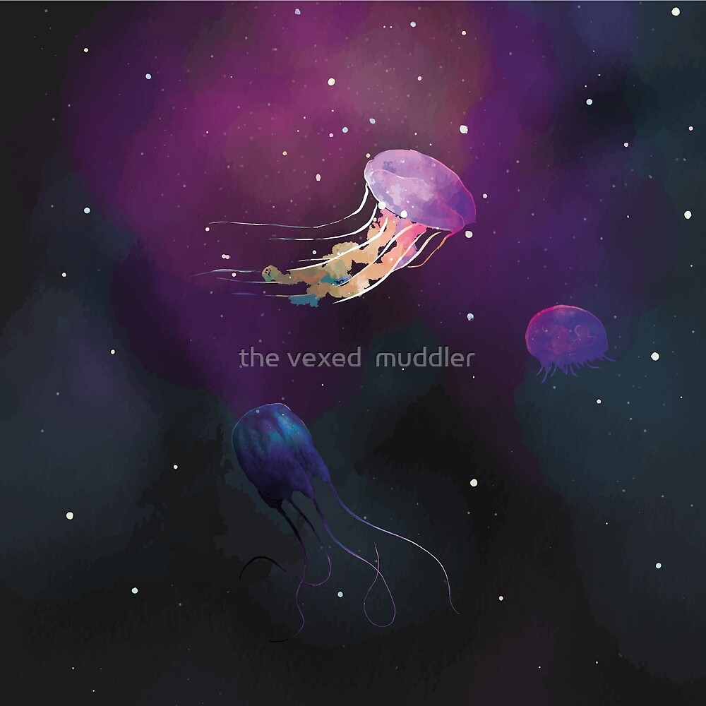 Space Jellies by the vexed  muddler