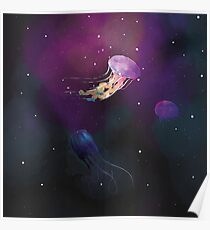 Space Jellies Poster