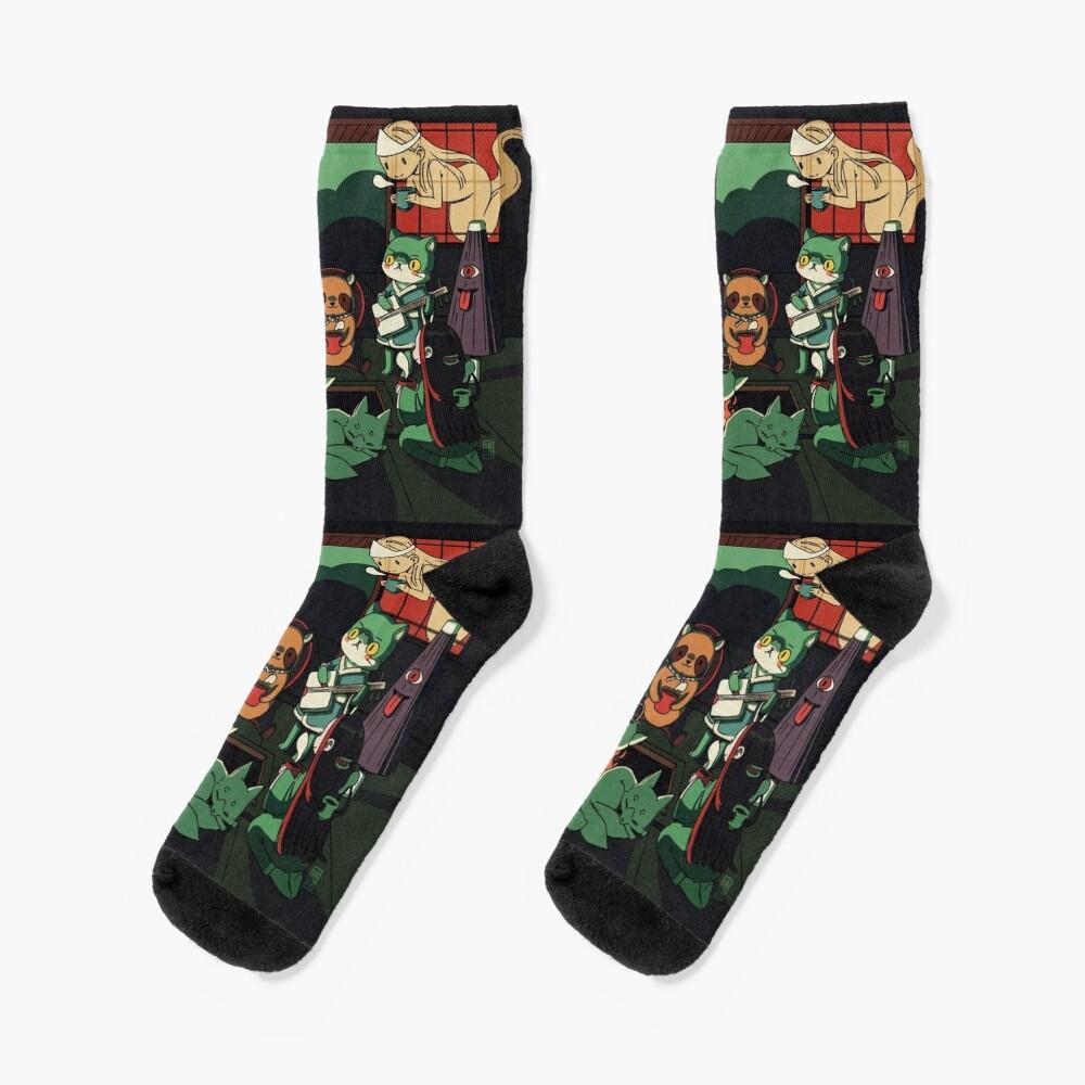 Yokai Tea Party Socks