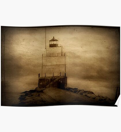 Light of the sea...Manitowac Breakwater Lighthouse © Poster