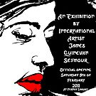 Rose exhibit poster for 2011 solo exhibit  by James  Guinnevan Seymour