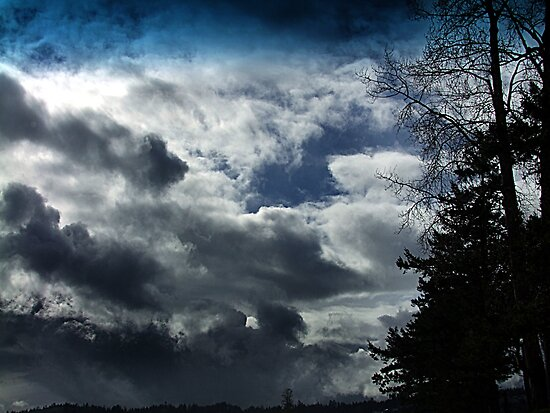 Storm Front Passing by George Cousins