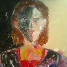 """Oil....""""Stark and bare"""": The Reclusive Woman by dante WIP.... by tim norman"""