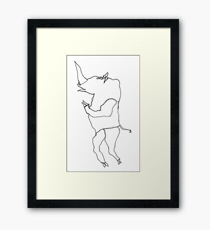 Squib the Rhino Framed Print