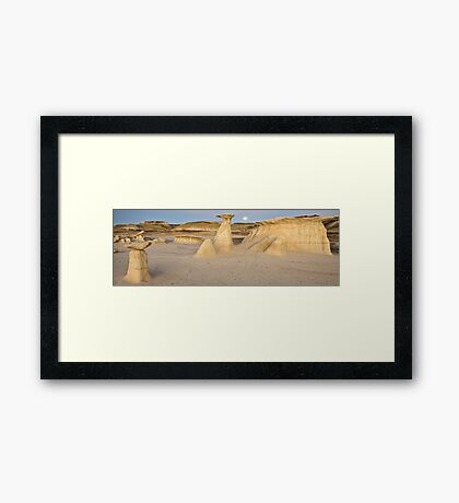Bisti Badlands Panorama Framed Print