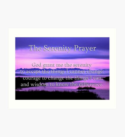 scenic serenity prayer Art Print