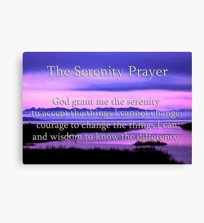 scenic serenity prayer Canvas Print