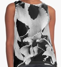Succulent in black and white Sleeveless Top