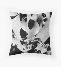 Succulent in black and white Floor Pillow