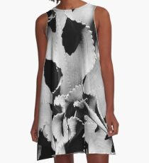 Succulent in black and white A-Line Dress