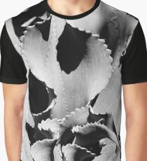 Succulent in black and white Graphic T-Shirt